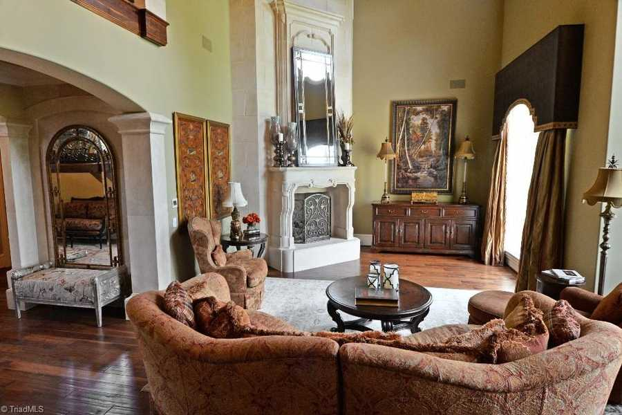 Two-story Great Room with fireplace