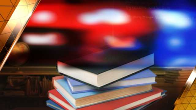 School crime police lights and books