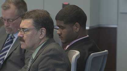 Carlos Riley Jr. in court