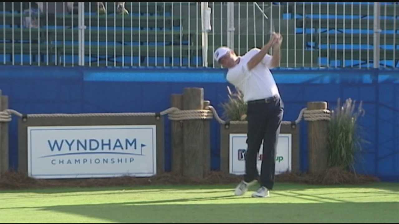 Wyndham Championship golf begins in Greensboro