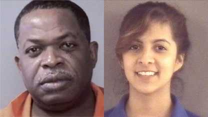 Gregory Parks, left, and Isabel Palacios, right