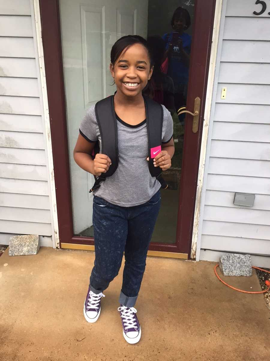 Maleyah's first day of middle school.