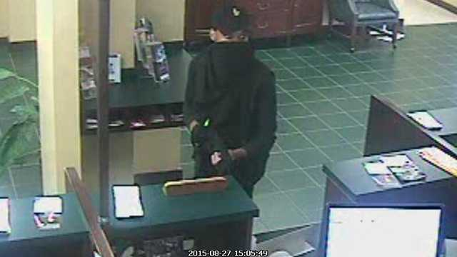 Surveillance image of Reidsville credit union robbery suspect