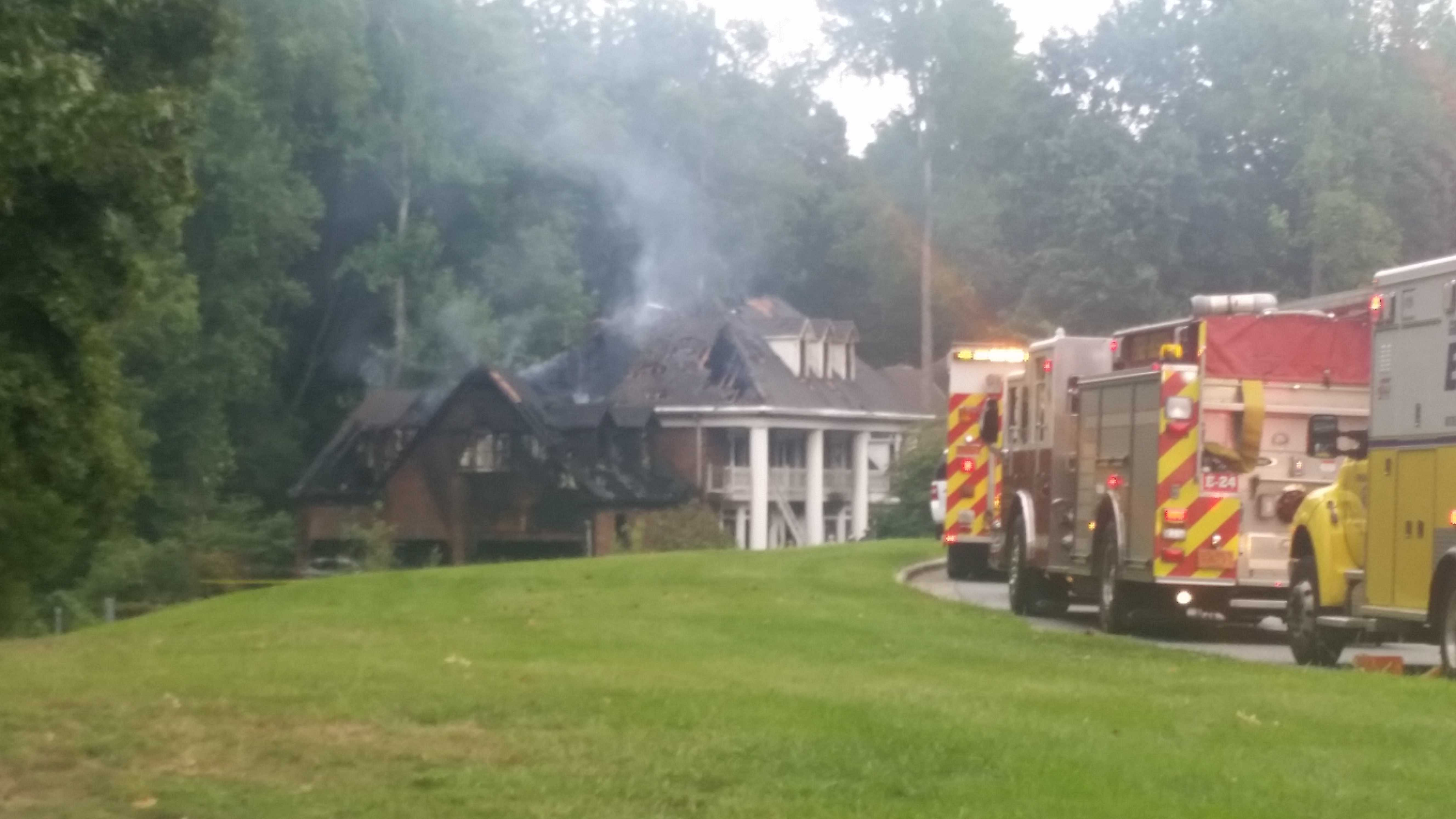 The fire happened Sunday afternoon in Greensboro.