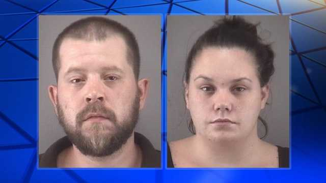 Dustin Lee Robertson, left, and Candice Nicole Case, right