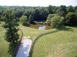 Pond located on the property