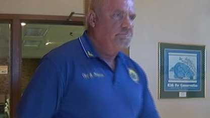 Former Surf City police chief Mike Halstead left an emergency meeting Tuesday night after announcing his retirement.