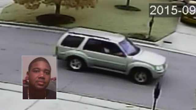 Bottom left: Jauhan Bethea. Background: Vehicle seen leaving neighborhood around time of homicide.