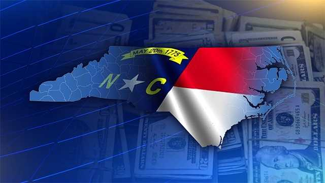 North Carolina state flag budget money cash bills