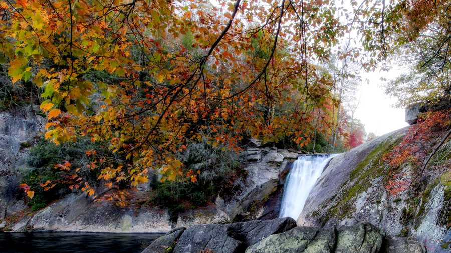 Oct. 21: Although leaves have peaked in the High Country, autumn remains colorful and vibrant, as demonstrated in this photo from Elk River Falls, located near the North Carolina-Tennessee border