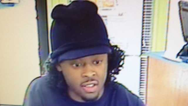 Surveillance image of Winston-Salem bank robbery suspect