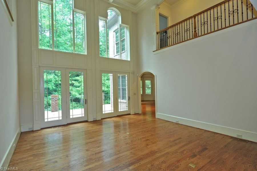 Great Room with hardwood floors