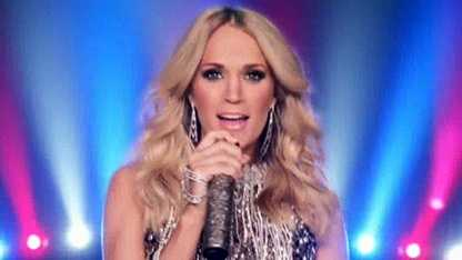 Carrie Underwood in 2015 Sunday Night Football intro