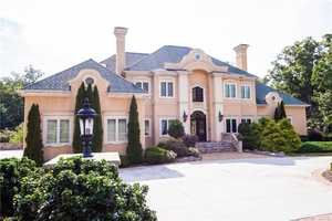 This five bedroom Mediterranean style estate is located in Kernersville and priced at $2,775,000