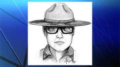 Sketch of suspected police officer impostor