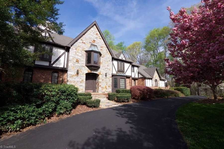 This six bedroom Winston-Salem estate is situated on over two acres and is priced at $1,299,999