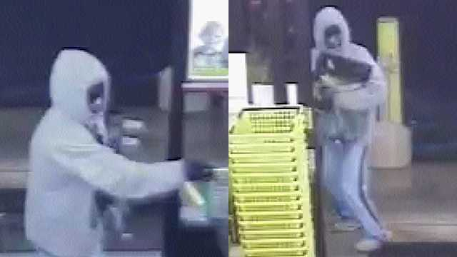 Surveillance images of robbery suspect at Dollar General in Alamance County