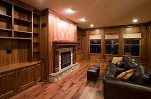 This home also features a walnut paneled Library