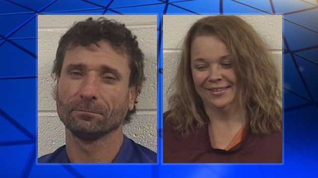 Christopher Caudle, left, and Kristie Chilton, right