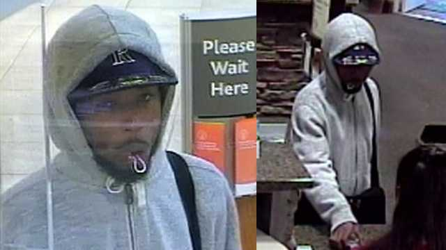 Surveillance image of suspect in SunTrust Bank (left) and Bank of Oak Ridge (right) robberies in Lake Jeannette