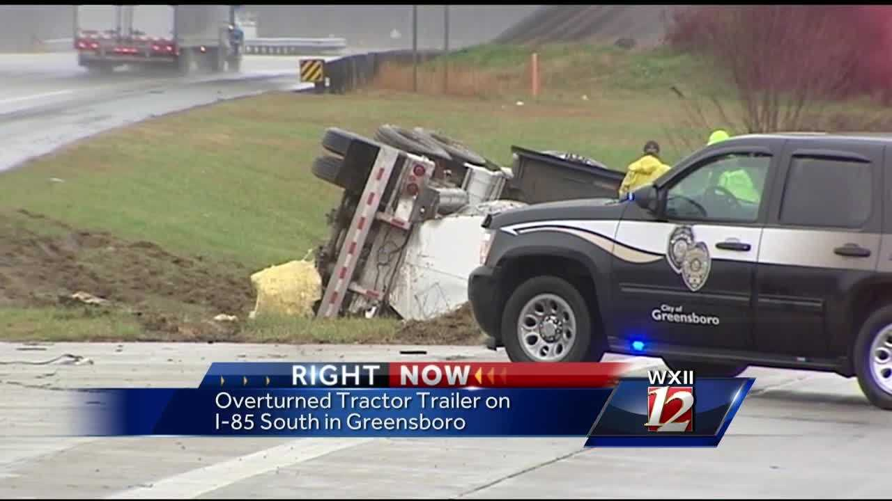 Crews are still trying to clean up a crash involving an overturned tanker truck that happened early Tuesday morning.