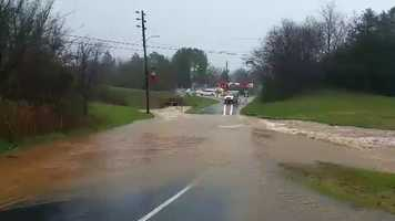 Flooding along Highway 22 in Franklinville