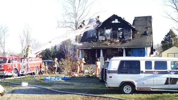 This house was destroyed in an early-morning fire in Cricket near the Wilkesboros.