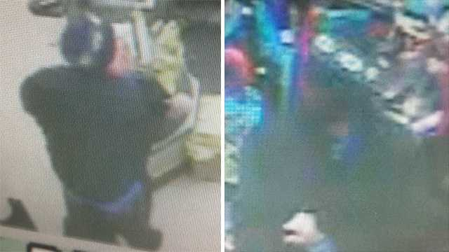 Surveillance images of suspect in armed robbery of Gibsonville Dollar General