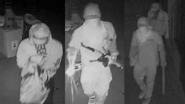 Surveillance images of break-in and theft suspects at Sportsmans Hangout in Statesville