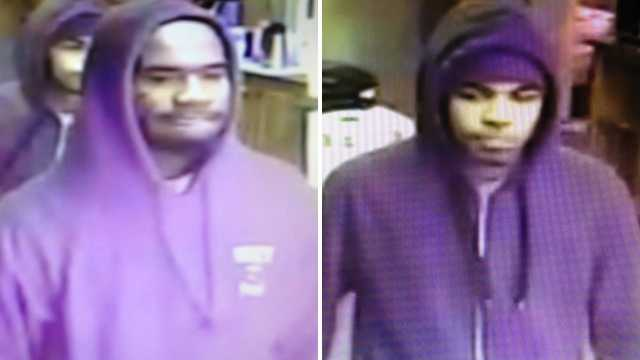 Surveillance images of suspects in business center armed robbery