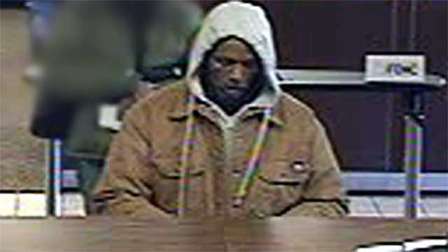 Surveillance image of suspect in Wells Fargo bank robbery in Winston-Salem