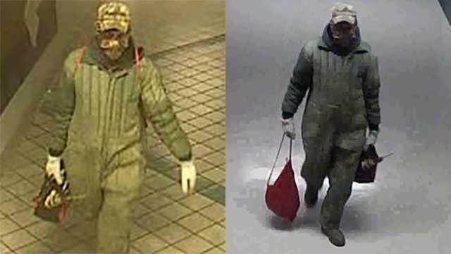 Surveillance images of break-in suspect