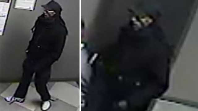 Surveillance images of suspect in armed robbery at Verizon Wireless store in Eden