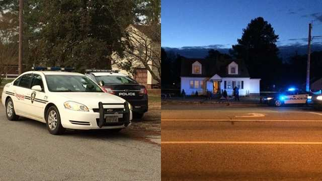 The domestic murder-suicide investigation involves two different scenes, pictured here.