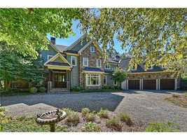 This Nantucket inspired lakefront estate is located in Cornelius and priced at $2,750,000