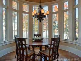 Breakfast Area with views of Lake Norman