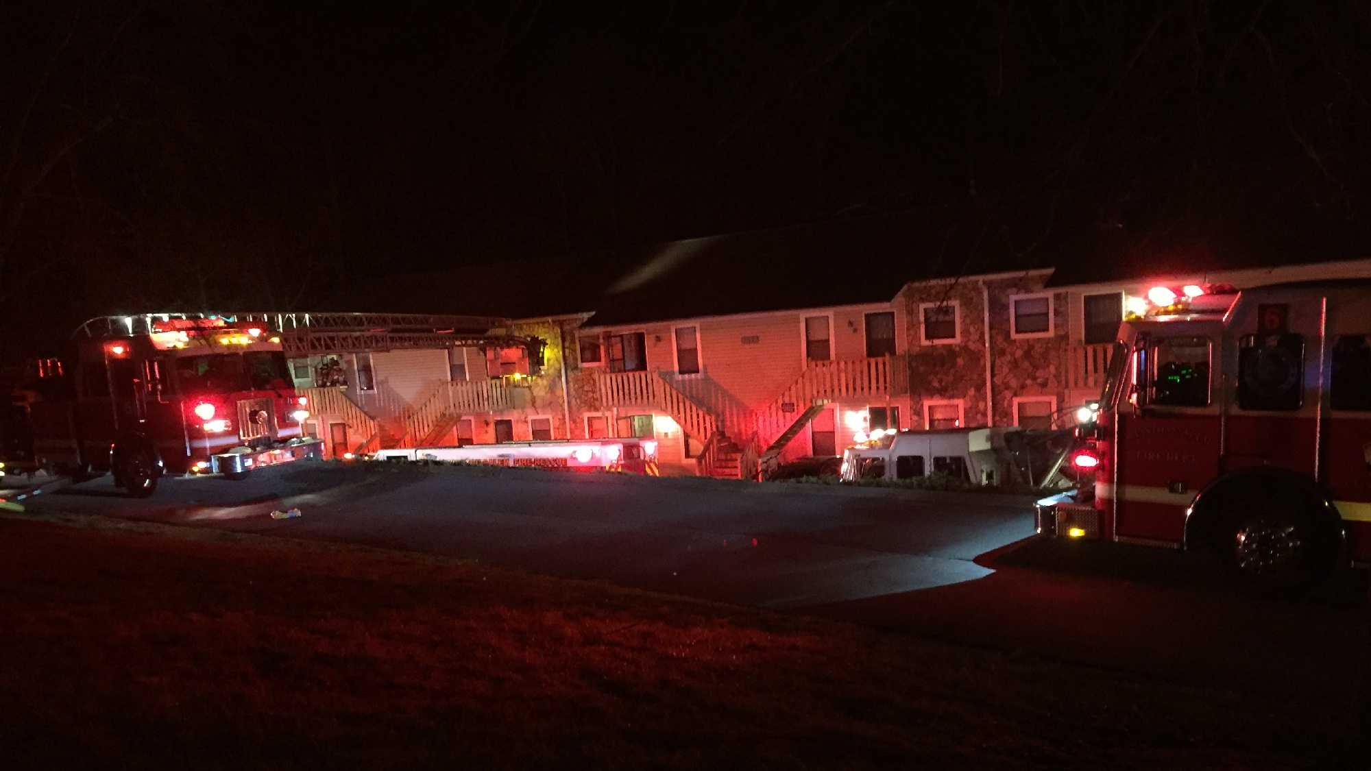 The fire occurred shortly before 10 p.m. Thursday in the 2000 block of Swaim Road.