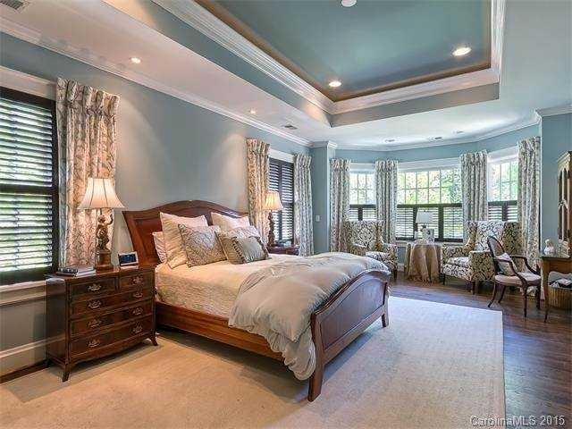Master Bedroom Suite with trey ceiling