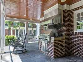 Covered Porch with outdoor grilling area