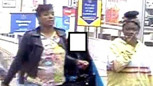 Police are looking for these persons of interest, left and right, following a fire at the Thomasville Walmart.
