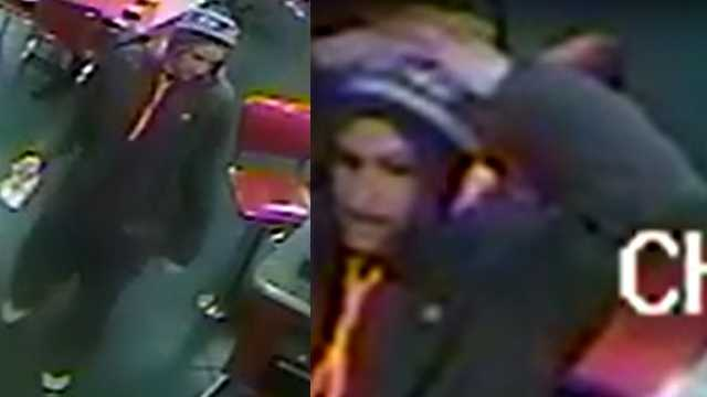 Surveillance images of wanted suspect in Huddle House robbery in Stokesdale