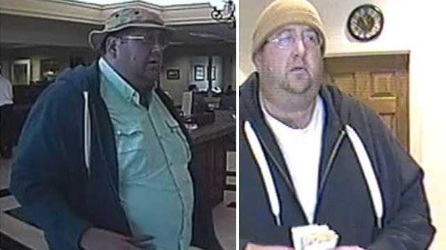 Surveillance images of serial bank robbery suspect