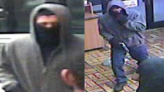 Surveillance images of suspect in Subway armed robbery in Burlington
