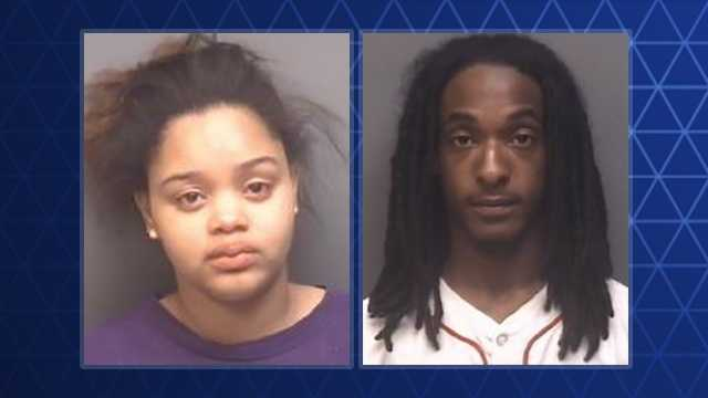 Audriana Sawyer, left, and Malik Thomas, right