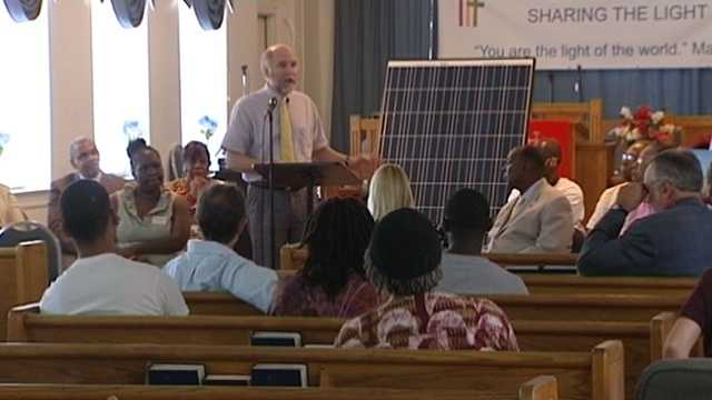 NC WARN installed solar panels on the roof of Faith Community Church in downtown Greensboro in June 2015.