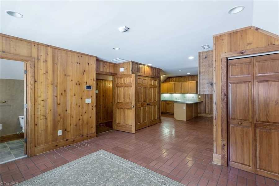 The staff apartment is located above the barn and includes a full kitchen, bath and bedroom.
