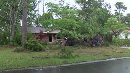 Storm damage near Wilmington