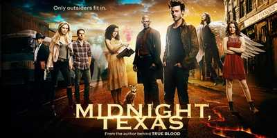 """Midnight, Texas: Coming Soon. Welcome to a place where being normal is really quite strange. From the visionary director of """"Mr. Robot"""" and based on the hit book series from the author behind HBO's """"True Blood"""" comes a journey into a remote Texas town where no one is who they seem. From vampires and witches to psychics and hit men, Midnight is a mysterious safe haven for those who are different. As the town members fight off outside pressures from rowdy biker gangs, ever-suspicious cops and their own dangerous pasts, they band together and form a strong and unlikely family. One-hour drama."""