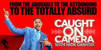 """Caught On Camera With Nick Cannon: Returns Fridays this fall. """"Caught on Camera with Nick Cannon"""" lets viewers in on the hijinks captured by the unblinking eyes of cell phones, dash cams, security cameras, news crews and camcorders around the world. This riveting new series is storytelling at its best, providing a first-person account of what's happening on-screen from those who lived it, recorded it and saw it happen, as told in their own words.Hosted By: Nick Cannon"""