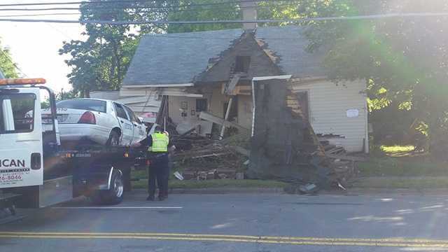 A house that was hit by a taxi Wednesday morning will have to be torn down immediately, WXII's Bethany Moore reported. The taxi driver died.